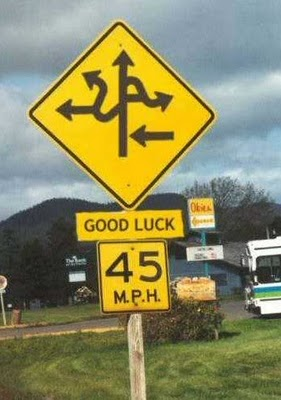 Road sign Good Luck